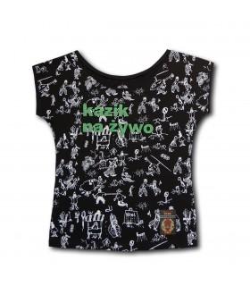 Damska Koszulka KNŻ - Porozumienie ponad podziałami czarna