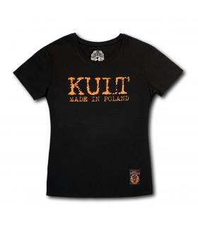 Damska koszulka Kult - Made in Poland Prosta czarna