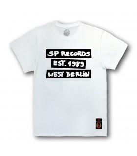 Koszulka SP RECORDS - Est. 1989 biel / czerń. Biała