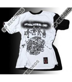 Koszulka Kaliber 44 - W 63 minuty dookoła świata czarno-biała