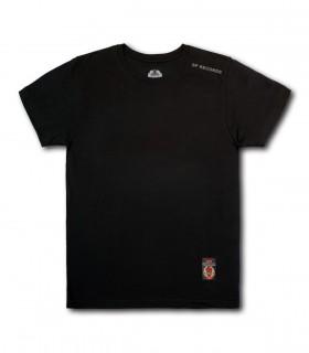 Koszulka SP RECORDS czarna (Krój: lekko dopasowany) (PREORDER)