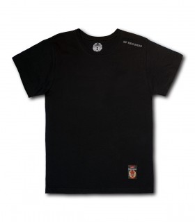 Koszulka SP RECORDS czarna (Krój: standardowy) (PREORDER)