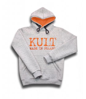 Bluza KULT - Made in Poland z kapturem Szara