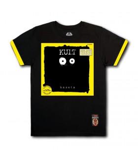 Koszulka KULT - KASETA (YELLOW Vinyl Edition) czarna (PREORDER)