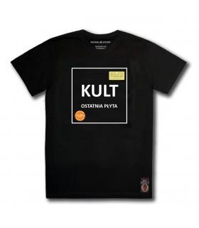 Koszulka KULT - Ostatnia płyta (Orange Vinyl Edition) czarna (PREORDER)