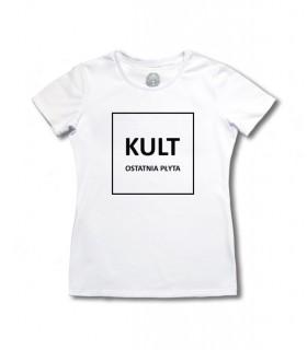 Damska Koszulka KULT - Ostatnia Płyta biała [Basic]