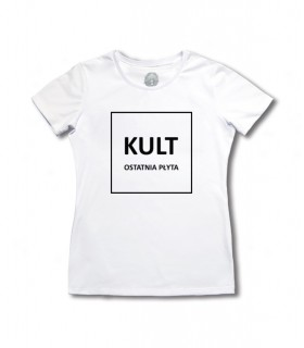 Damska Koszulka KULT - Ostatnia Płyta biała [Basic] (PREORDER)