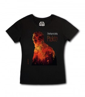 Damska koszulka Strachy na Lachy - Piekło czarna (PREORDER)