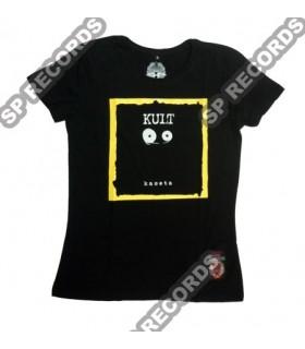 Damska koszulka Kult - Kaseta Czarna